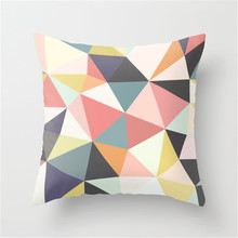 Custom vector drawing print colorful pillow