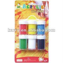 6 colour acrylic paint set 20ML each pot