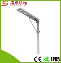 impermeable ip65 todo en un solar luz de calle con energía solar calle poste de luz