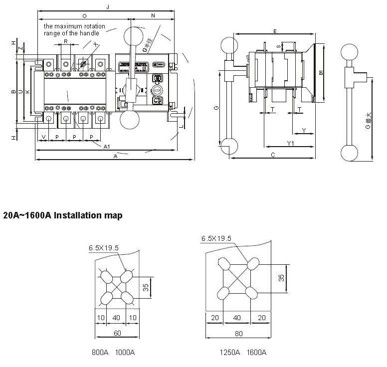 integrated  split type 3 position socomec auto  automatic
