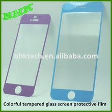 oleophobic anti-scratch Colorful tempered glass screen protective film ,10 colors for choosing