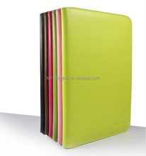 Green flip real leather case for ipad 6, First layer genuine leather case, or PU material HH-IP609