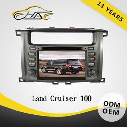 8'' auto OEM ODM hd car dvd player for toyota land cruiser navigation system