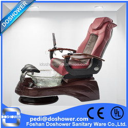 PU leather and glass bowl pedicure massage chair pedicure chair