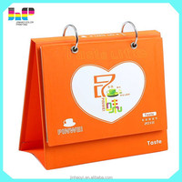 new style high quality hardcover full color printing desk calendar wholesale
