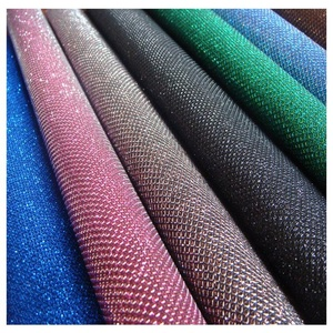 Оптовая продажа сетки Блеск Ткань искусственная кожа для обои Сумочка обувь