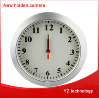 2015 whole sale digital Wall clock with pinhole camera for security purpose wifi free android app and IOS monitoring app