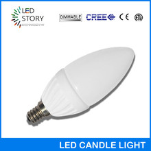 Decorated 12v 110v 220v dimmable E12 COB led candle light