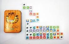 Vivid full color printing domino game in tinbox