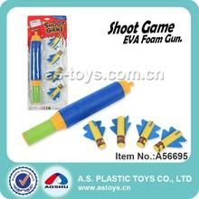 33CM EVA shooting foam rocket gun toy for kids
