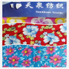 Big flower pattern double side brushed tc cotton plain printed flannel fabric for bed sheets