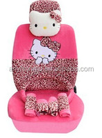 five seats flannel cartoon seat cover for unniversal car