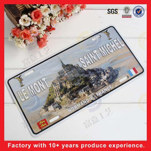 2015 scenery metal car licence plate.sign,car deoration