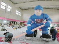 customized new style big inflatable cartoon characters of ice hockey
