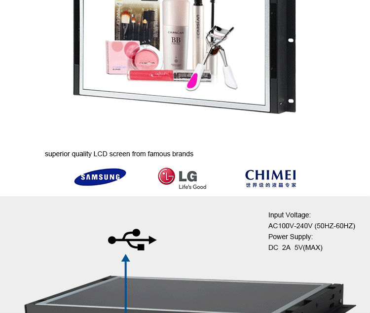 Heavy duty lcd frameless monitor 32 inch,32 inch open cell lcd display panel flexible mount led advert lcd panel .jpg
