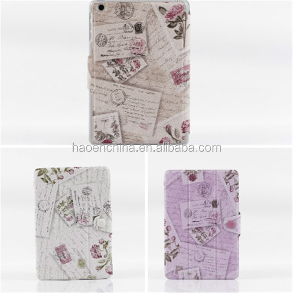 CUTE VINTAGE RETRO SMART FLIP LEATHER STAND COVER CASE FOR APPLE IPAD MINI 1 2