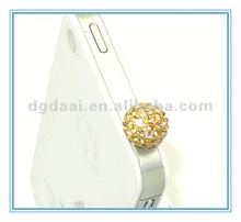 Fashion cell phone dust screw jack plug