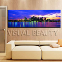 New York City Skyline Panoramic Cityscape Modern Canvas Art
