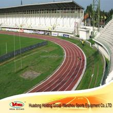Artificial turf Indoor rubber track flooring surface for stadium school