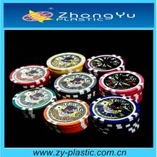 11.5g 13.5g plastic laser poker chips with sticker