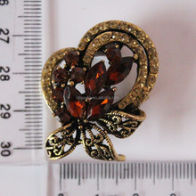 latest fashion rhinestone brooch bouquet for hijab