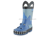 Dog printing blue color rubber rain boots