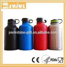 32oz double wall stainless steel vacuum beer growler water bottle
