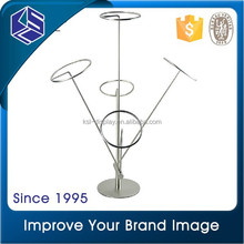 silvery wire customized design hat display stand, metal cup display rack