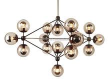 Creative glass pendant lamp led MODO chandelier Dining Room DNA Drop light 5/10/15/21heads vintage industrial lamp Jason miller