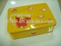 square metal tin box for cookies,metal can