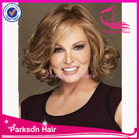 Short Indian remy human hair full lace permanent raquel welch wigs