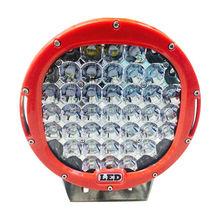 "Red/Black ring 9"" 111W C REE Led work Light , led driving lights, led truck lights"