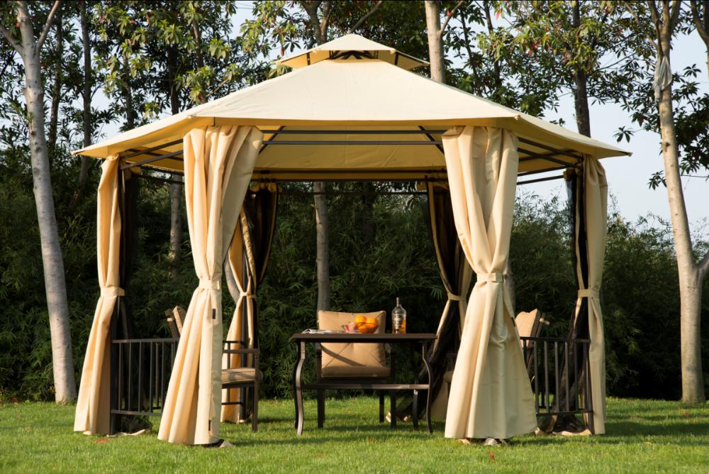 Outsunny Outdoor Hexagon Patio Canopy Party Gazebo W