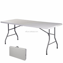 6FT Folding Trestle Half Table Picnic camping BBQ Banqueting Party Market Garden