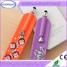 Cute Silicone Wristband Touch Screen Stylus Pen For Mobile Phone