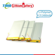 High Capacity Lithium Polymer Batter 3.7v 3400mah with Light Weight
