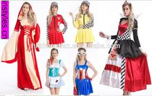 Instyles 2014 halloween carnival party womens 70s 80s pink ladies Costume girls party dresses