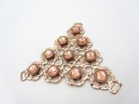 Lovely Zinc Alloy Women Shoe Accessories Pink Rhinestone Buckle