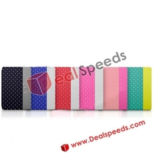 New Arrived Kajsa Tri-fold Multi-angle Stand Dual Color Polka Dots Pattern Leather Cases for iPad Mini 2