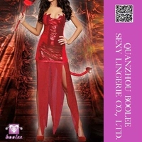 Wholesale low price popular style Adults Sexy Red Hot Devil Costume Women sexy halloween costumes