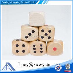 China dice manufacturers New custom printing logo wooden dice