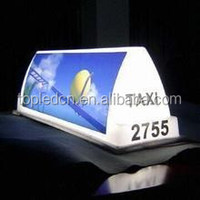 Taxi top led sign full color water proof taxi sign taxi led advertising