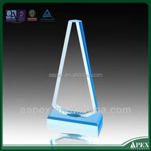 Wholesale top quality transparent acrylic awards,high transparent rectangular blue acrylic awards