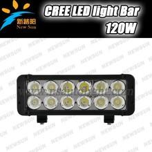 10.9 inch 120w 12v straight shock resistance led light bar dual row with 8 degree spot/60 degree flood/combo beam led light bar