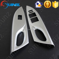 For Toyota yaris 2014 chrome Electric windows cover matt chromed decoration interior accessories