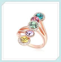 Fashion Crystal Engagement Ring RI-16712