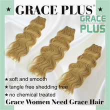 """Grace Plus 8-30"""" natural wave 125 natural blonde curly human hair extensions for white women water wave hair weave"""