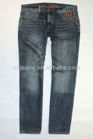2013 New fashion mens jeans styles with embroidery pocket levanta cola