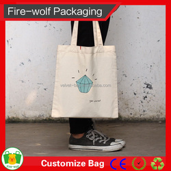 2015 Hot Sale High Quality Oem Foldable Logo Printed Cotton Canvas Tote Bag