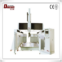 Diacam hotsale WAC 5axis price of different type of wood cnc machine